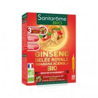 Santarome Bio Ginseng Gelée Royale Guarana Acérola Solution Buvable 20 Ampoules/10ml à NIMES