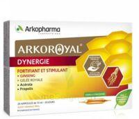 Arkoroyal Dynergie Ginseng Gelée Royale Propolis Solution Buvable 20 Ampoules/10ml à NIMES