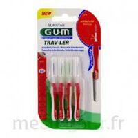 Gum Trav - Ler, 0,8 Mm, Manche Rouge , Blister 4 à NIMES
