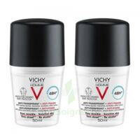 Vichy Homme Déodorant Anti-transpirant Anti Trace 48h 2*billes/50ml à NIMES
