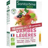 Santarome Bio Jambes Légères Solution Buvable 30 Ampoules/10ml à NIMES