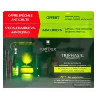 René Furterer Triphasic Progressive Sérum Antichute Coffret 8 Flacons X 5,5ml + Shampoing Stimulant 100 Ml à NIMES